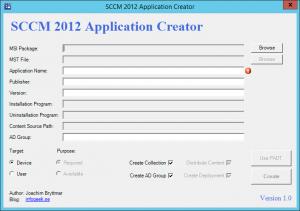 SCCMApplicationCreator