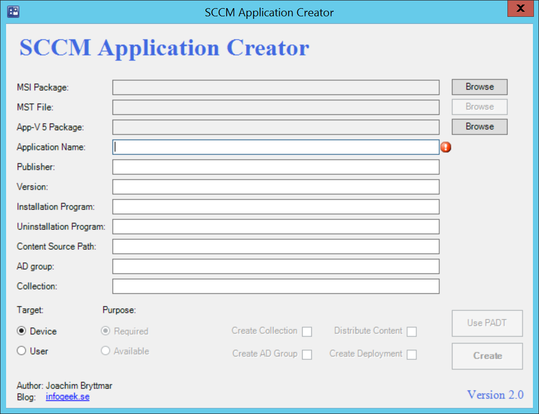 SCCMApplicationCreator2.0