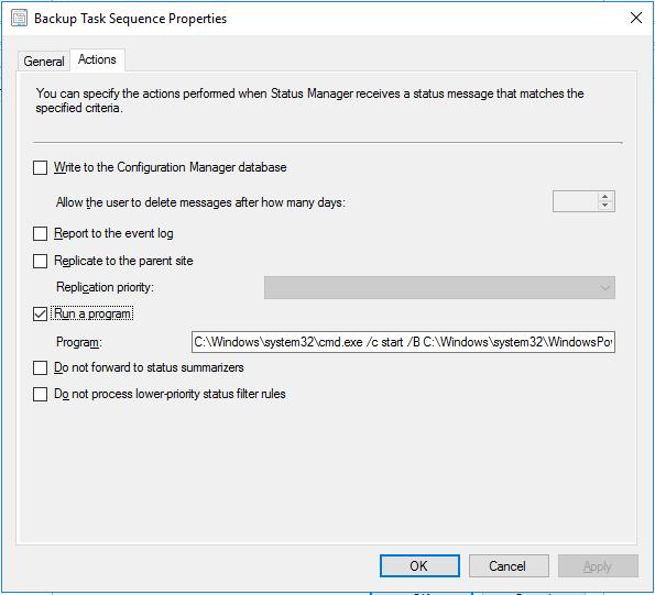 Automatisk backup av Task Sequences i SCCM – InfoGeek